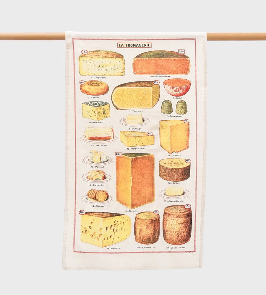 Cavallini | Cheese Tea Towel