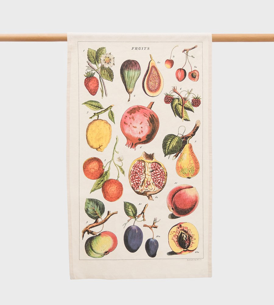 Cavallini | Fruits Tea Towel