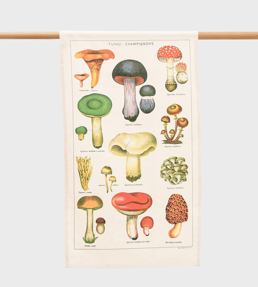 Cavallini | Mushrooms Tea Towel