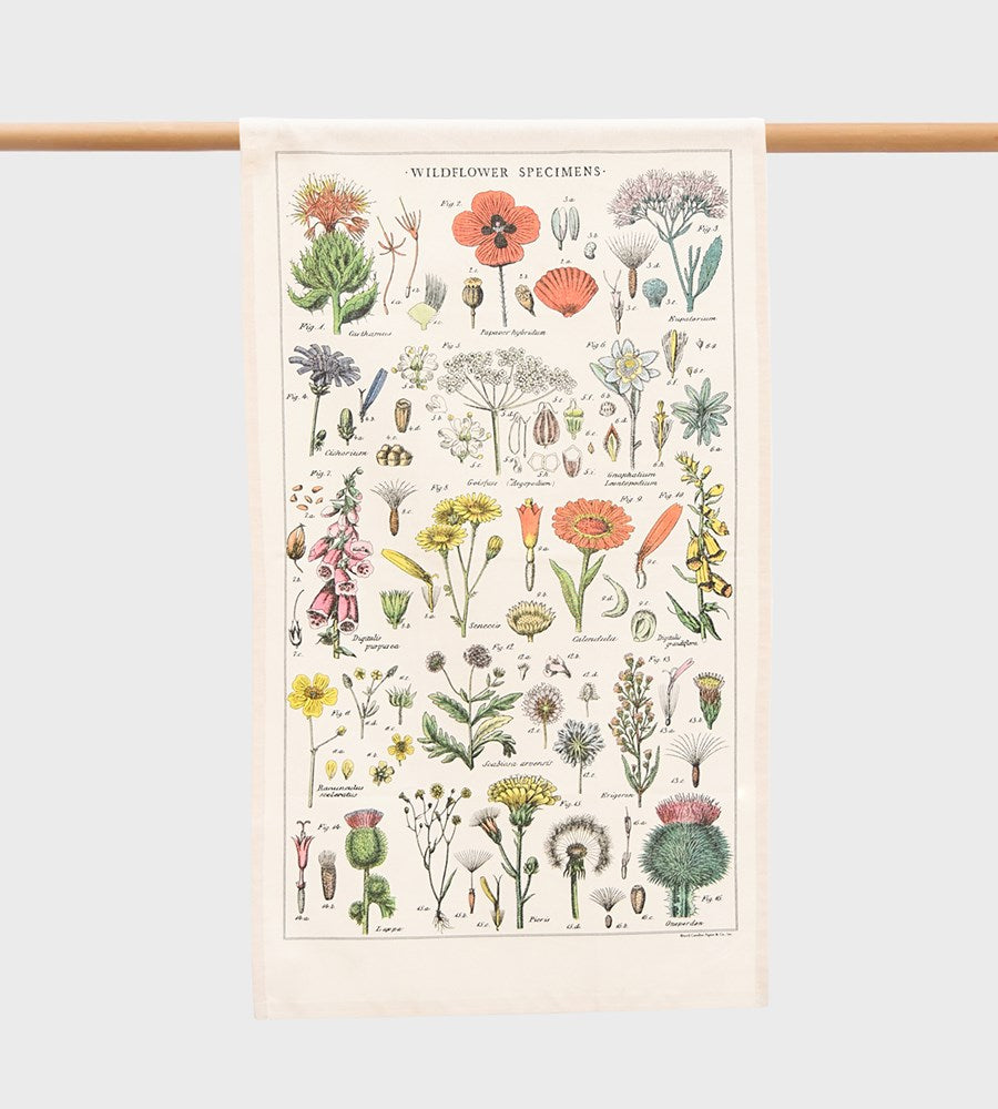 Cavallini | Wildflowers Tea Towel