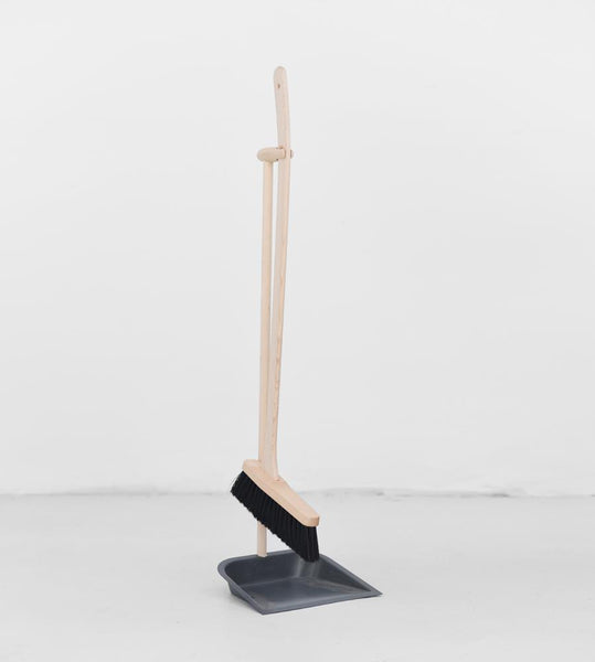 Charcoal Dust Pan & Brush with Beech Handle