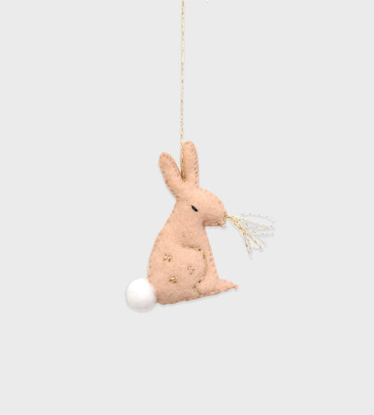 Christmas Decoration | Forest Animal Felt | Beige Bunny