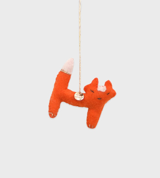 Christmas Decoration | Forest Animal Felt | Orange Fox