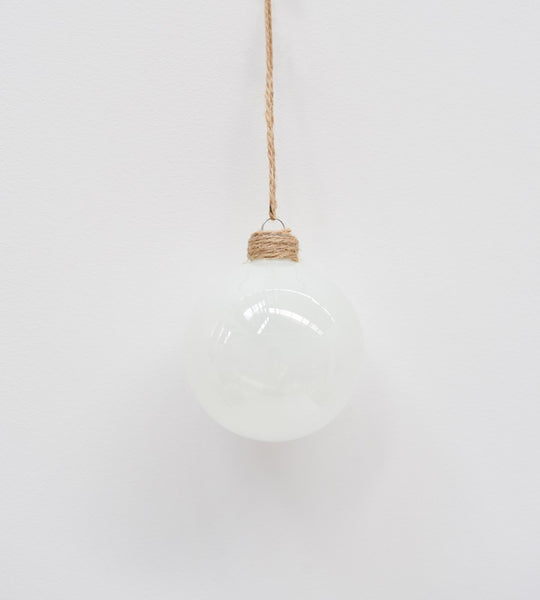 Christmas Decoration | Glass Bauble | Opaque White