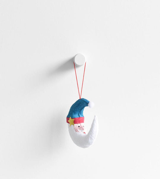 Christmas Decoration | Hanging Paper Decoration | Santa Moon