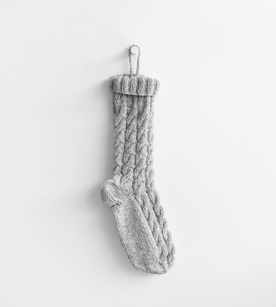 Christmas Decoration Pure Wool Hand Knitted Stocking