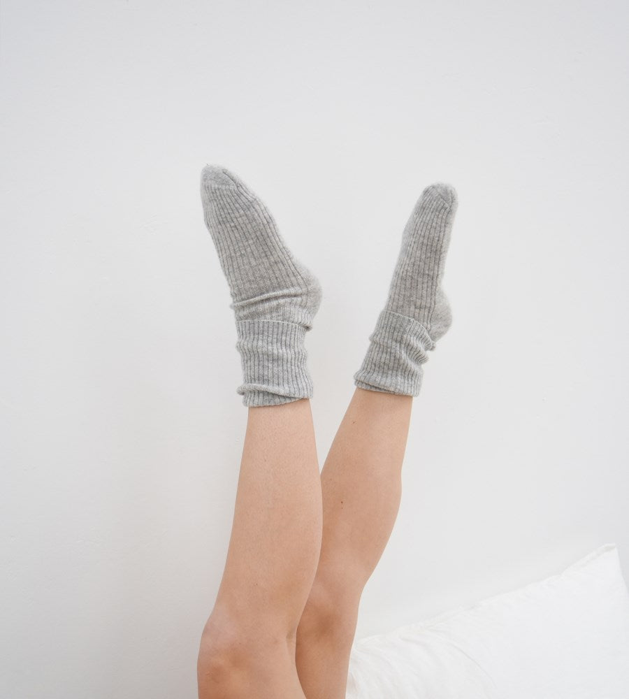 La Tribe | Cashmere Socks | Grey Marle