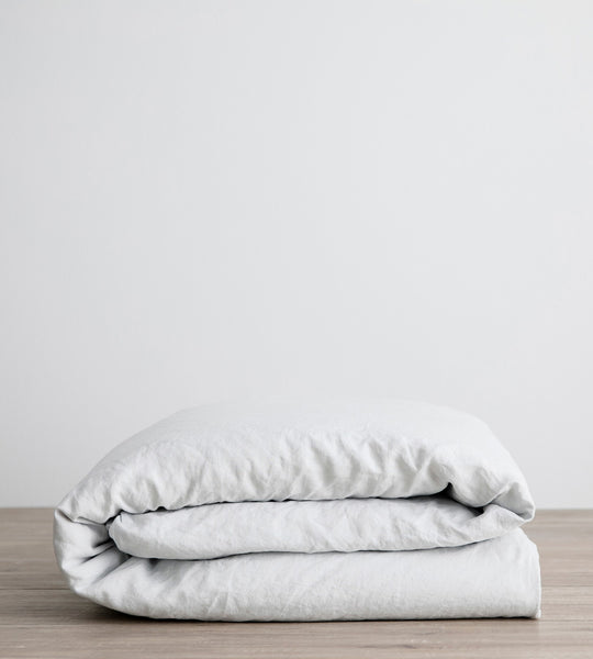 Cultiver | Linen Duvet Cover | Ice Blue