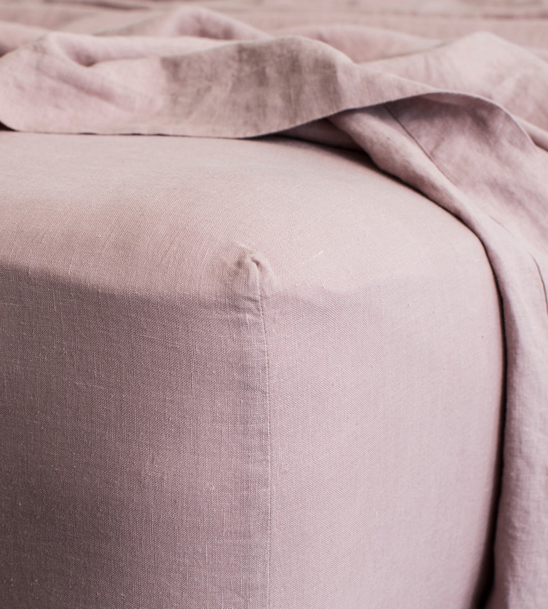 Cultiver | Linen Fitted Sheet | Dusk