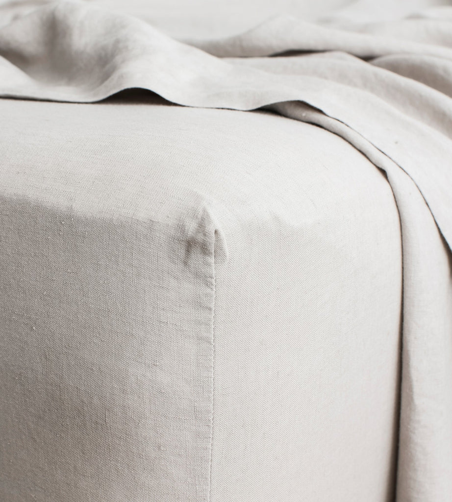 Cultiver | Linen Fitted Sheet | Smoke Grey