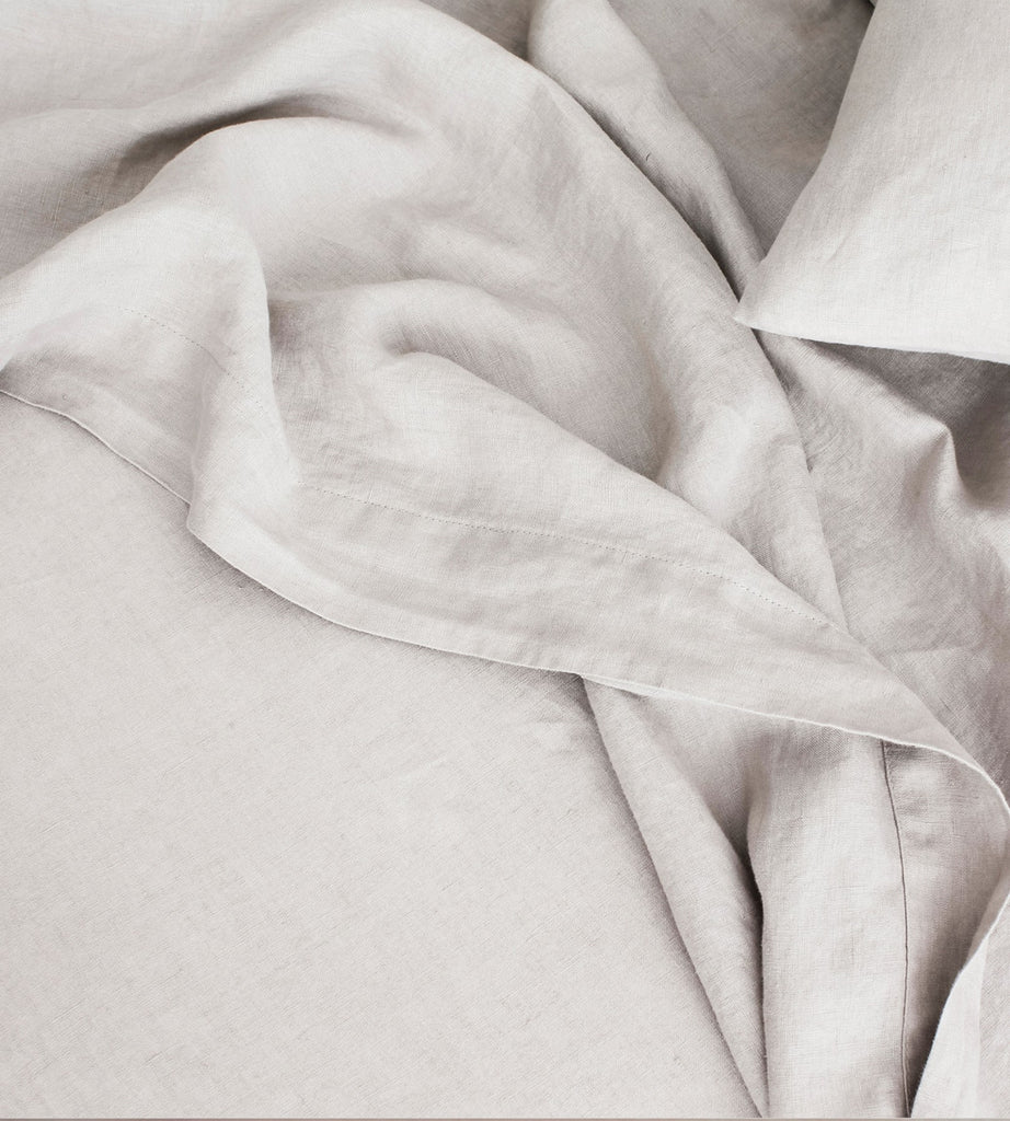 Cultiver | Linen Flat Sheet | Smoke Grey