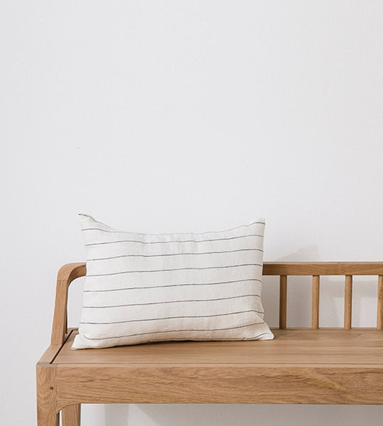Cultiver | Linen Les Minis Cushion | Pencil Stripe
