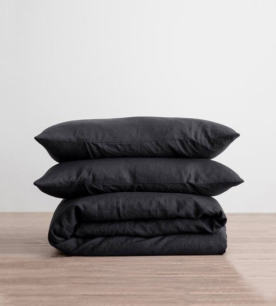 Cultiver | Linen Duvet Cover Set | Black