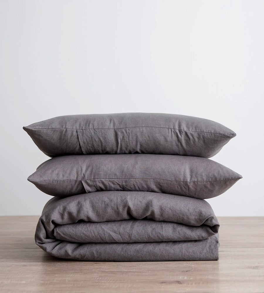 Cultiver | Linen Duvet Cover Set | Charcoal
