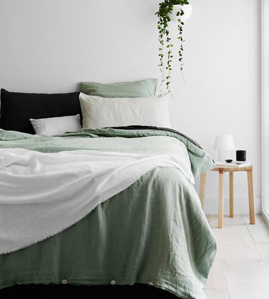 Cultiver | Linen Standard Pillowcase Pair | Sage