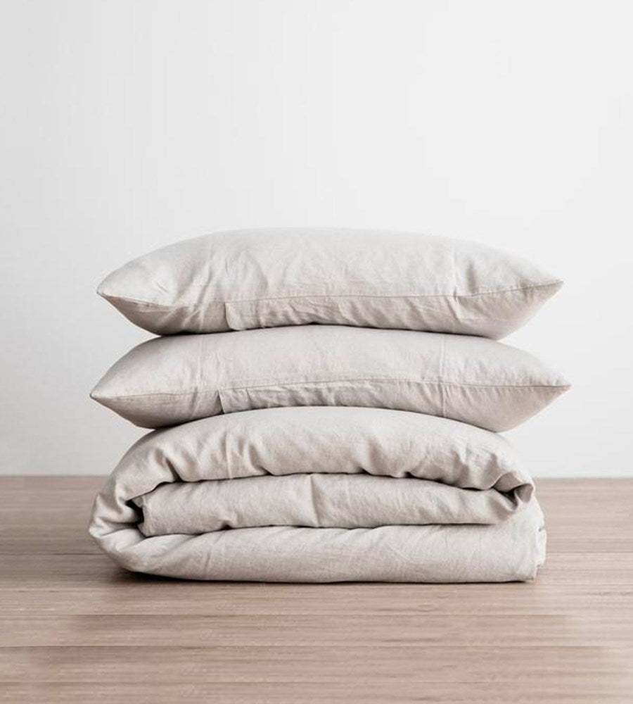 Cultiver Linen Duvet Cover Set Smoke Grey
