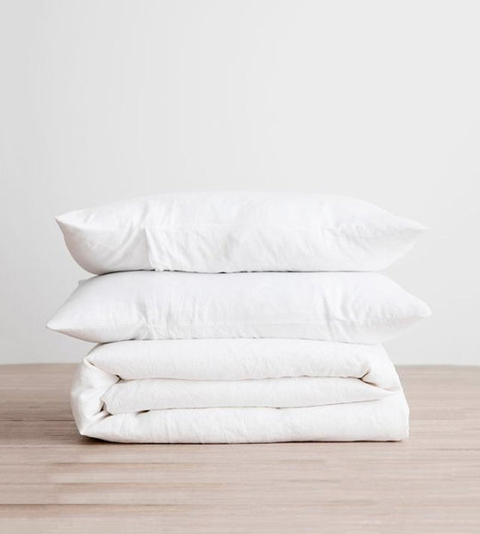 Cultiver | Linen Duvet Cover Set | White