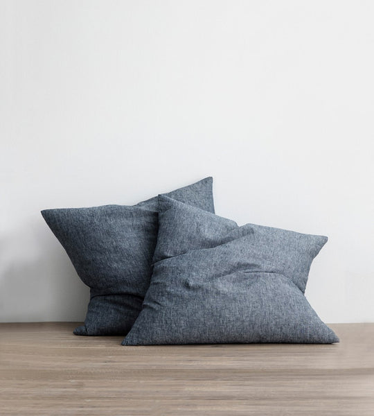 Cultiver | Linen European Pillowcase Pair | Indigo