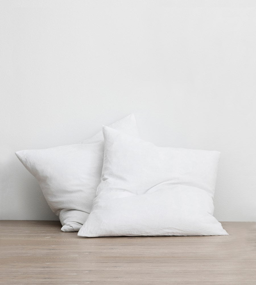 Cultiver | Linen European Pillowcase Pair | White