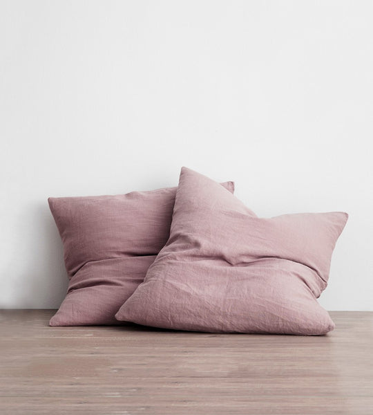 Cultiver | Linen European Pillowcase Pair | Dusk