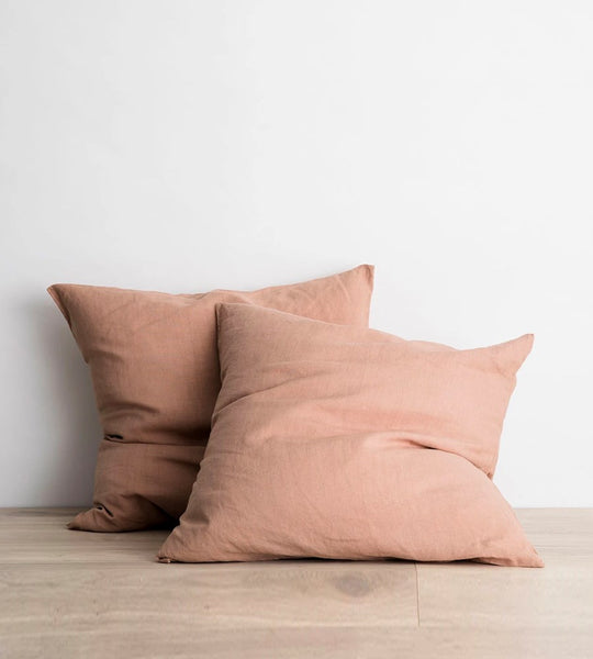 Cultiver | Linen European Pillowcase Pair | Fawn