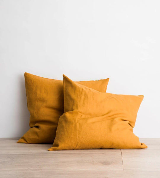 Cultiver | Linen European Pillowcase Pair | Mustard