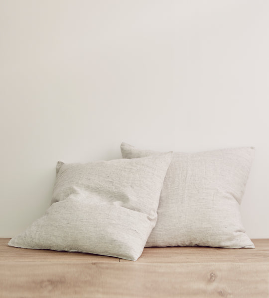 Cultiver | Linen European Pillowcase Pair | Pinstripe