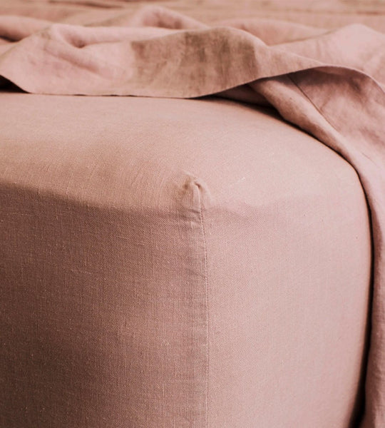 Cultiver | Linen Fitted Sheet | Fawn