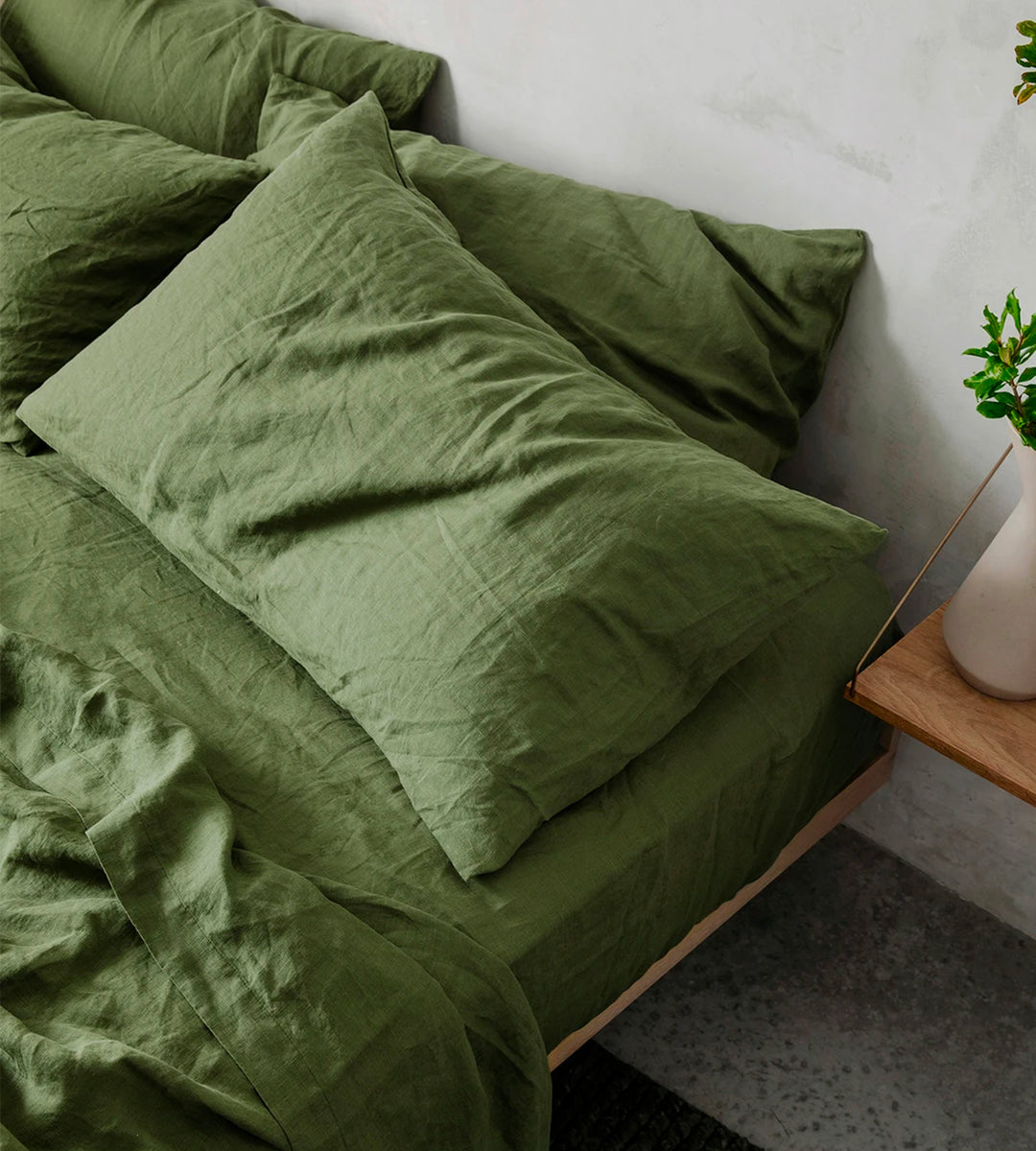Cultiver | Linen Fitted Sheet | Forest
