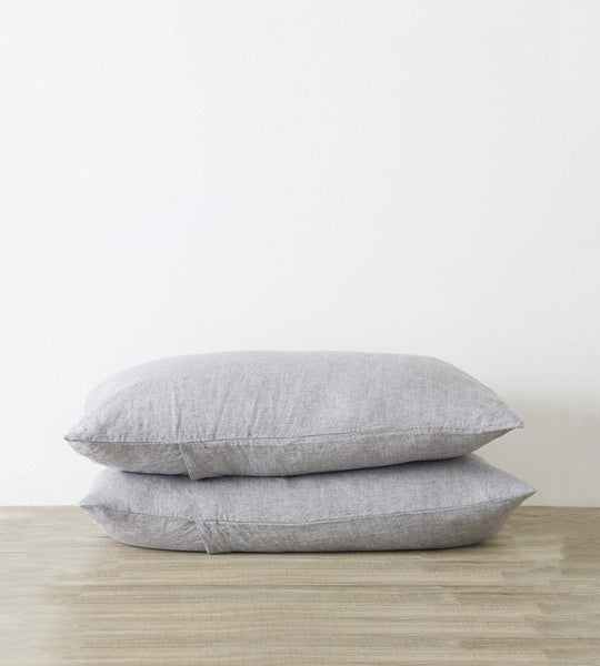 Cultiver Linen Pillowcase Pair Ash