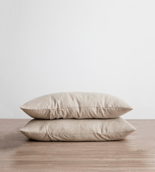 Cultiver | Linen Standard Pillowcase Pair | Natural