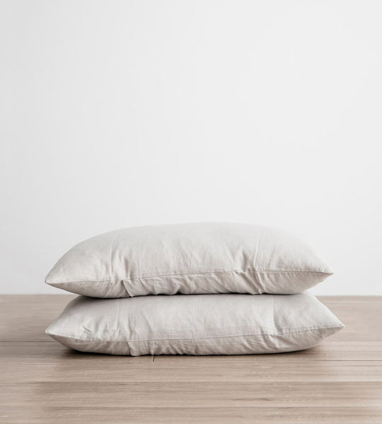 Cultiver Linen Pillowcase Pair Smoke Grey