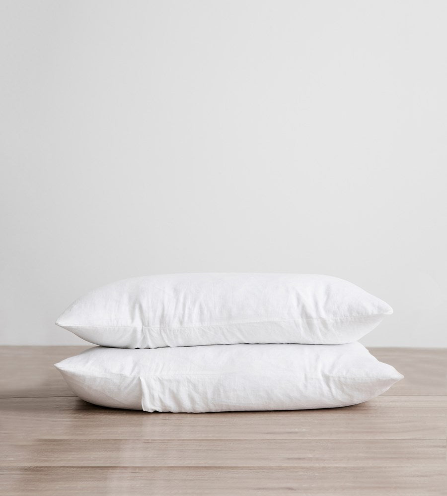 Cultiver | Linen Pillowcase Pair | White