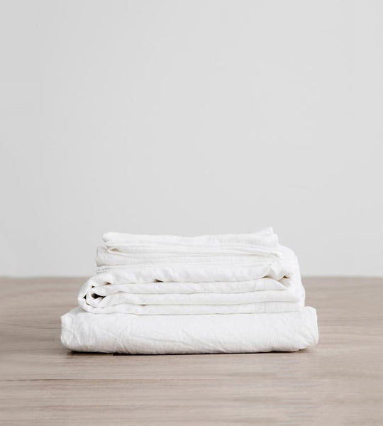 Cultiver | Linen Sheet Set | White