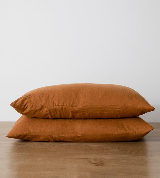 Cultiver Linen Standard Pillowcase Pair Cedar
