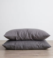 Cultiver | Linen Standard Pillowcase Pair | Charcoal Grey