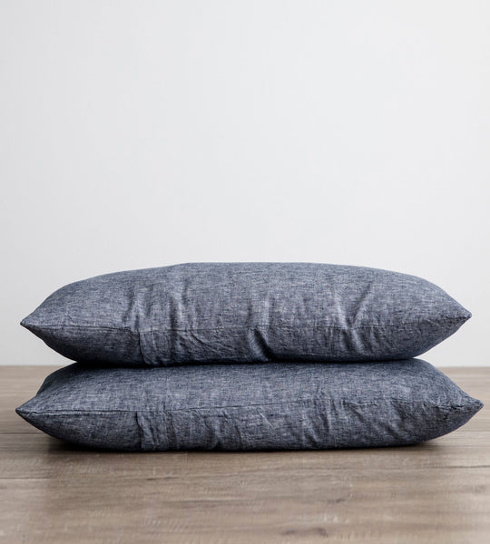 Cultiver | Linen Standard Pillowcase Pair | Indigo