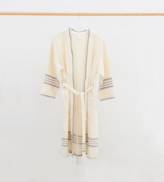 Cultiver | Marais Robe | Ecru & Light Grey