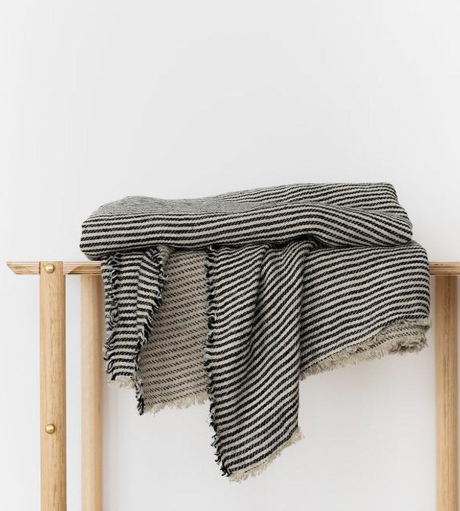 Cultiver | Mira Linen Throw | Ellis Stripe