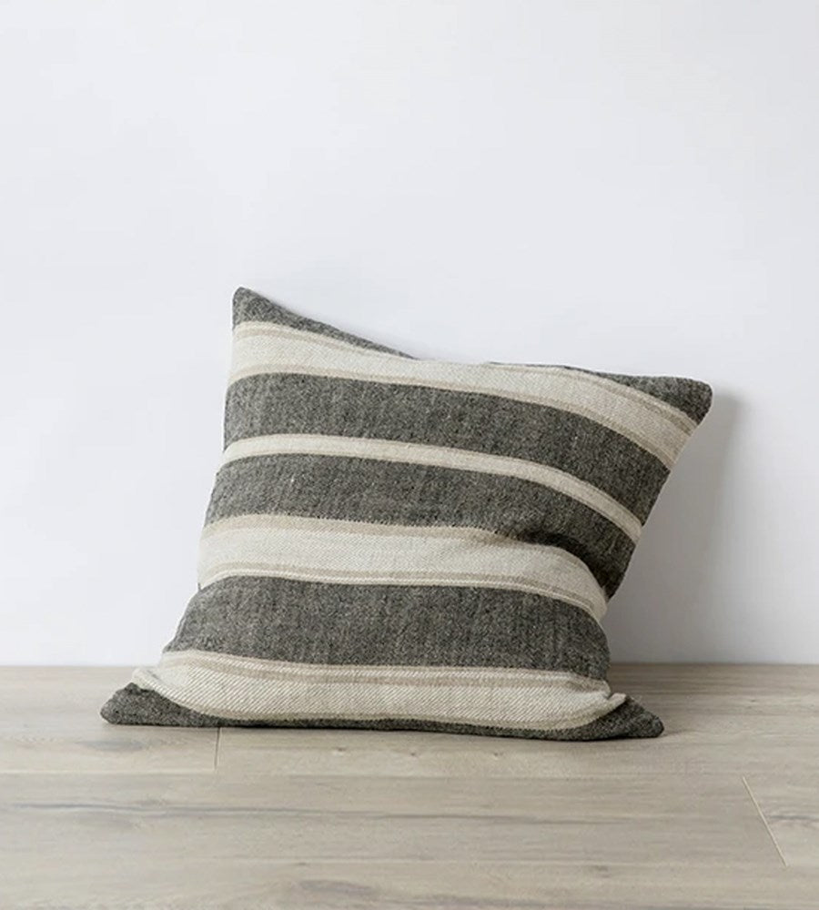 Cultiver | Mira Linen Cushion | Enzo Wide Stripe