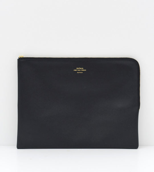 Delfonics | Quitterie Large Zip Pouch | Black