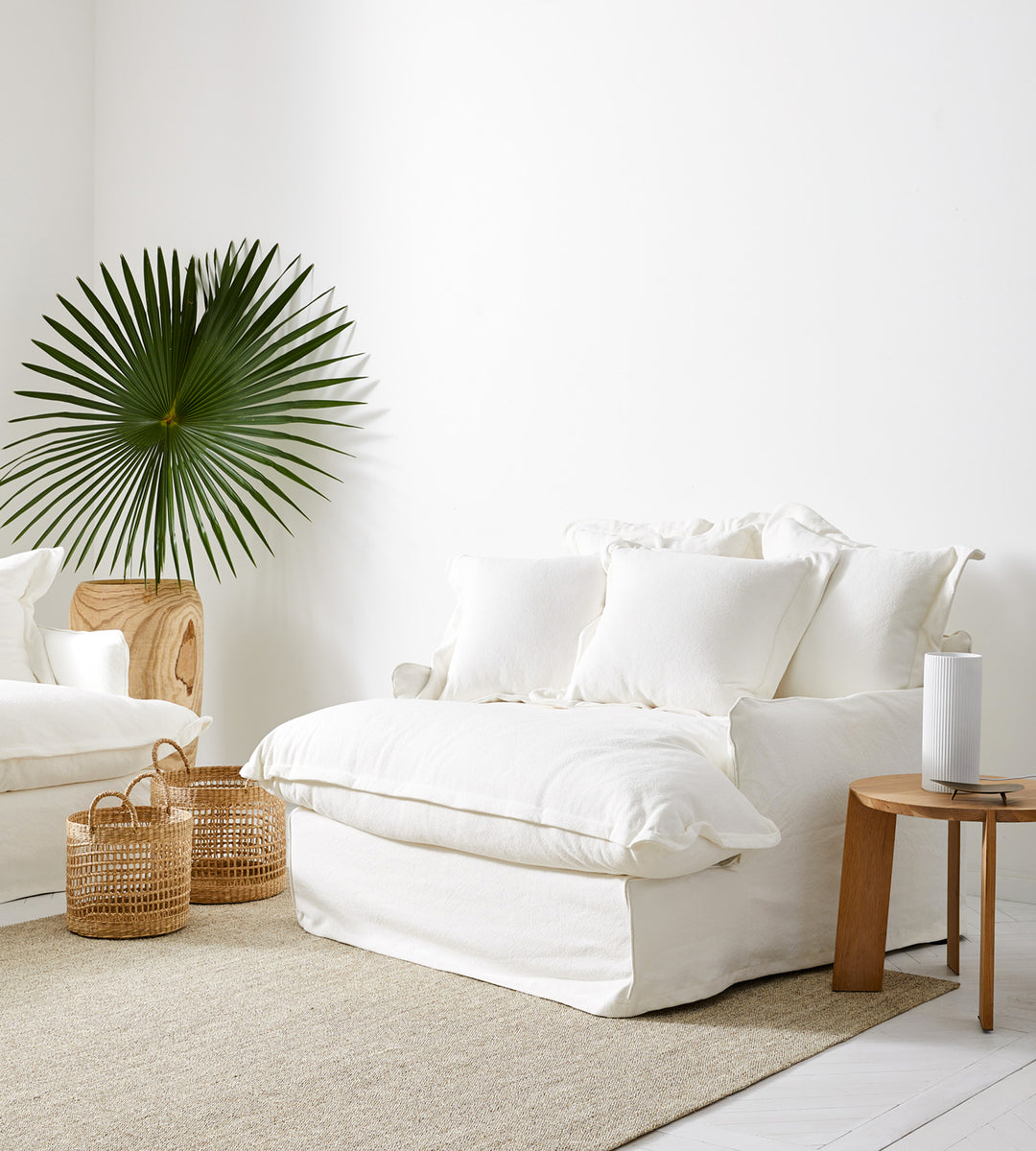 Dawson Oversized Armchair | White