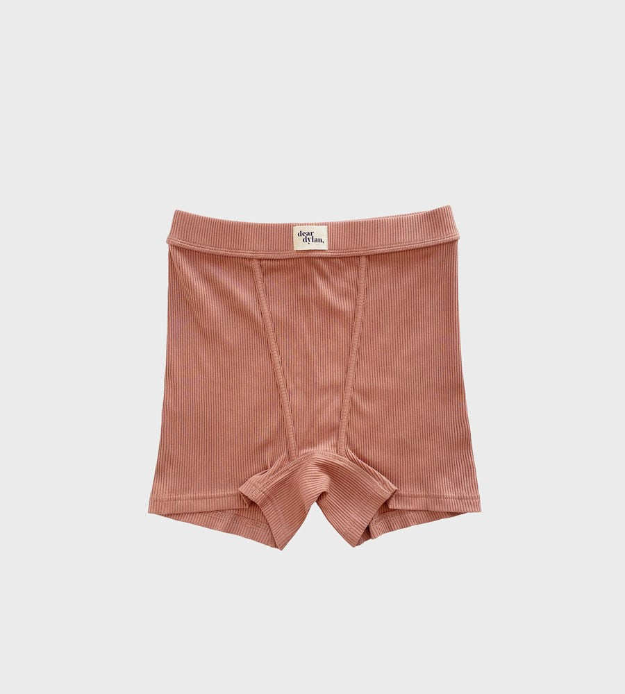 Dear Dylan | Ribbed Boy Short | Cameo Brown