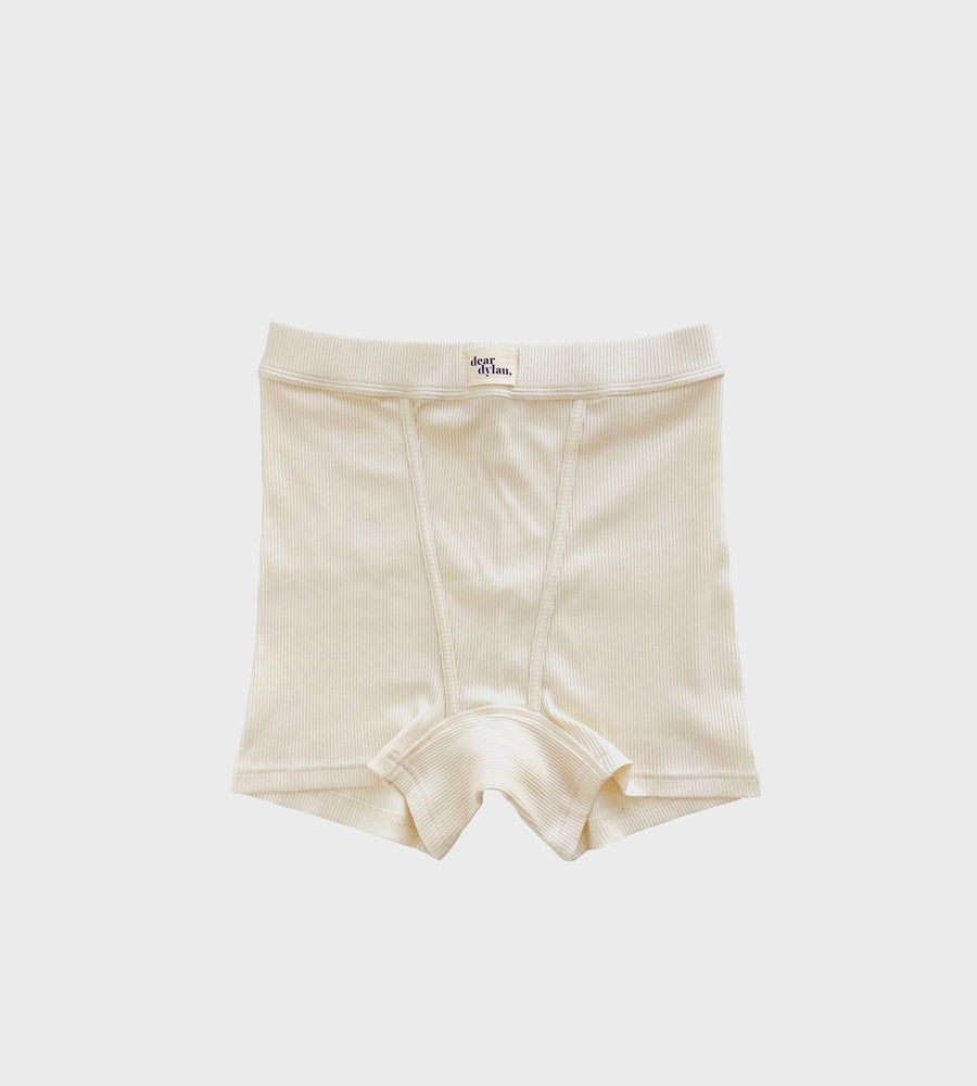 Dear Dylan | Ribbed Boy Short | French Vanilla