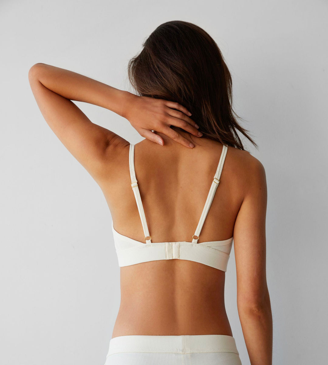 Dear Dylan | Ribbed Bralette | French Vanilla