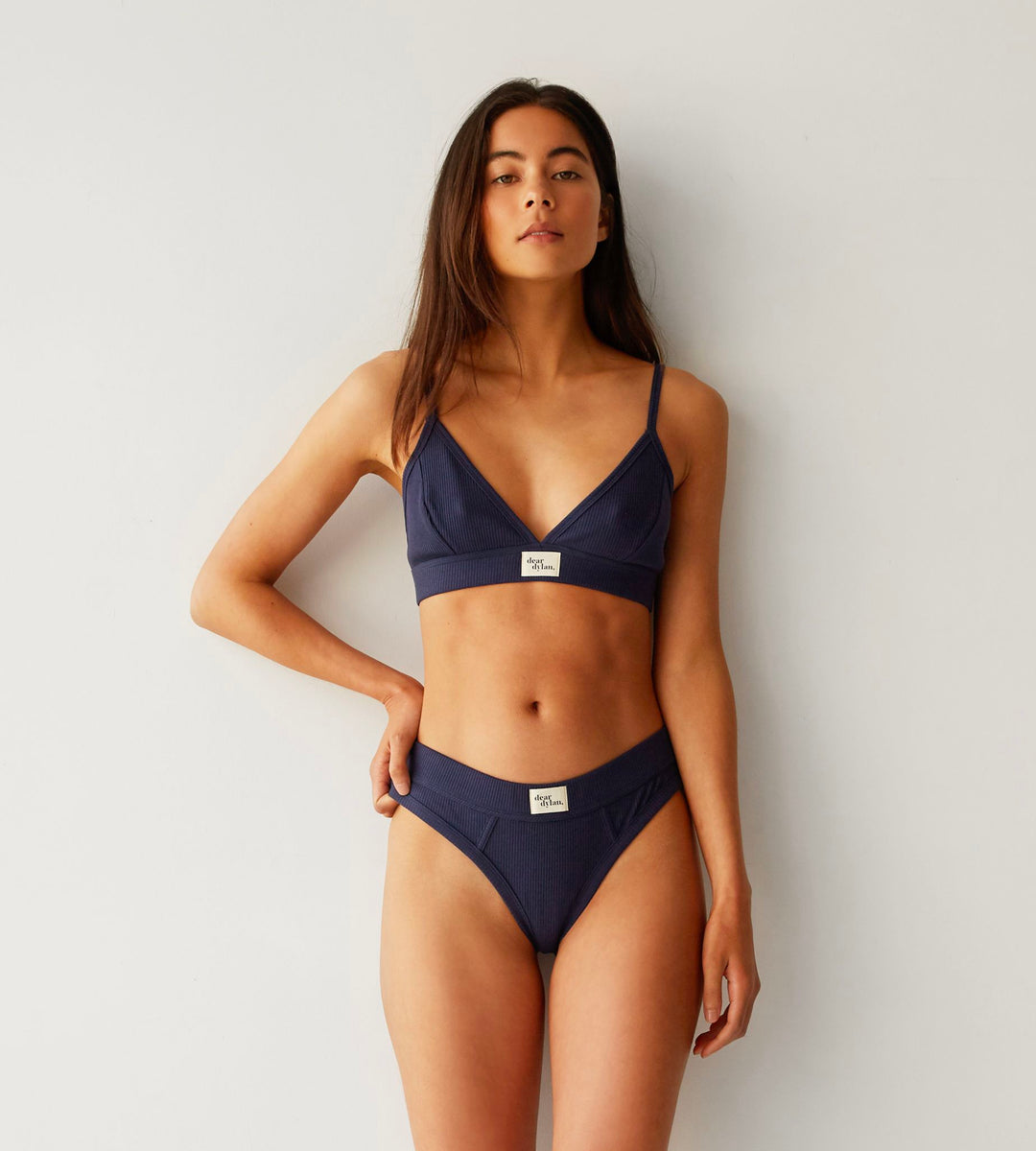 Dear Dylan | Ribbed Bralette | Navy