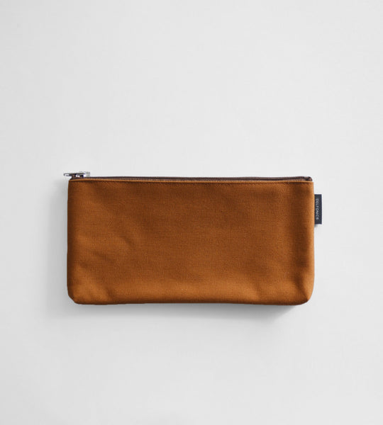 Delfonics | Marek Canvas Flat Pencil Case | Light Brown