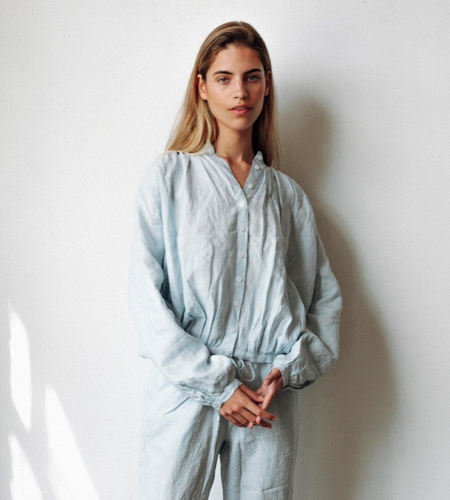 Des Sen | Pillow Blouse | Light Blue