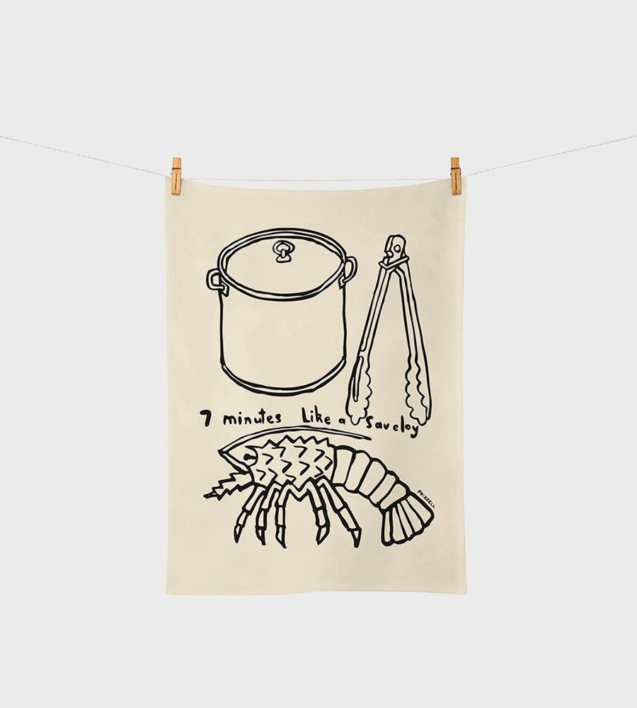 Dick Frizzell | Seven Minutes Tea Towel