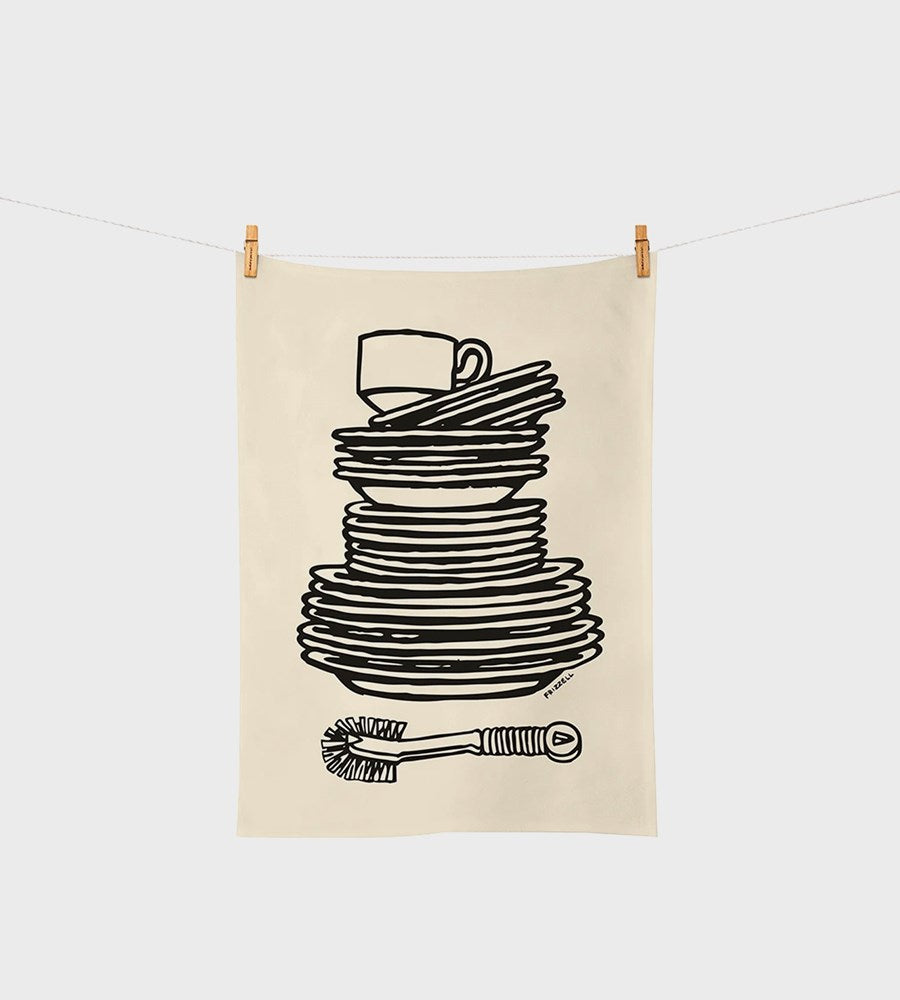 Dick Frizzell | Dishes Tea Towel